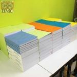 เข้าเล่มพับครึ่งทากาว เล่มA3 พับเป็นA4 ปกหลากสี - ศูนย์ถ่ายเอกสาร-พิมพ์เขียว บี เอ็ม ซี