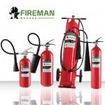 เครื่องดับเพลิง  ชนิดก๊าซคาร์บอนไดออกไซด์ - ถังดับเพลิง  เครื่องดับเพลิงแบบยกหิ้ว   รับอัดผงเคมี   กรีนครอส เซฟตี้