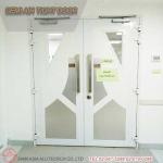 ประตูห้องปลอดเชื้อ  - รับติดตั้งประตูคลีนรูม ประตูหน้าต่างอลูมิเนียม สยาม เอเซีย อลูเทค