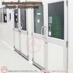 ประตูบานเปิดทางเดียว (CLEANROOM DOOR)  ประตูฉุกเฉิน  (EMERGENCY DOOR) - รับติดตั้งประตูคลีนรูม ประตูหน้าต่างอลูมิเนียม สยาม เอเซีย อลูเทค