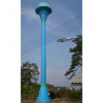 Champagne-shaped steel water tower - Thai Charoenshuk Engineering Co Ltd