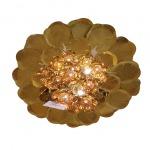 โคมไฟติดเพดาน ทรงดอกไม้บานสีทอง - ห้างหุ้นส่วนจำกัด กิจเจริญปากช่อง