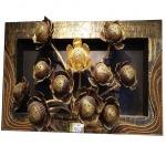 โคมไฟติดผนัง ทรงดอกบัวสีทอง - ห้างหุ้นส่วนจำกัด กิจเจริญปากช่อง