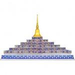 ขายยอดประดับติดลายมุกสีน้ำเงิน ลพบุรี - โลงเย็น ชัยศิริโลงทองลพบุรี