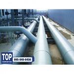 FRP Lining steel pipe งานเคลือบไฟเบอร์กลาส - บริษัท ท็อป คอมโพซิชั่น จำกัด