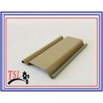 ใบประตูเหล็กกาวาไนส์เคลือบสี ลอนเล็ก สีครีม - โรงงานประตูม้วนไฟฟ้า - ไทย ซิน หลิง (ทีเอสแอล)
