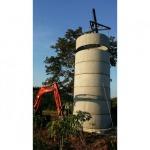 Install concrete water tank - แทงค์น้ำ คอนกรีตสำเร็จรูป