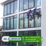 ติดตั้งกระจกอาคาร เชียงใหม่ - ช่างกระจกอลูมิเนียม เชียงใหม่ - เอ็น เอ อลูมิเนียม