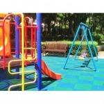พื้นยางกันกระแทก SBR และหญ้าเทียม - เครื่องเล่นสนาม Hippo Playground