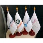 รับสกรีน ธงตั้งโต๊ะ - บริษัท แอค อาร์ต แอดเวอร์ไทซิ่ง จำกัด