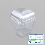 ถ้วยพีเอสเหลี่ยม ฝาโดม - จำหน่ายบรรจุภัณฑ์พลาสติก แพนยูเนียน