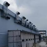 ติดตั้งท่อดักท์ระบายอากาศ - ติดตั้งพัดลมระบายอากาศอุตสาหกรรม พร้อมวางระบบท่อสไปร่อนโดยทีมงานได้รับอบรมด้านปลอดภัยในการทำงาน