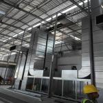 ติดตั้งท่อสไปร่อน - ติดตั้งพัดลมระบายอากาศอุตสาหกรรม พร้อมวางระบบท่อสไปร่อนโดยทีมงานได้รับอบรมด้านปลอดภัยในการทำงาน