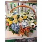 รับทำกระเช้าดอกไม้ - ร้านดอกไม้ง้ามงาม