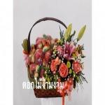 รับทำกระเช้าผลไม้ - ร้านดอกไม้ง้ามงาม