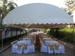 เต็นท์ทรงโค้งสีขาว ขนาด 5 X 12 เมตร - หนึ่งเต้นท์รามอินทรา