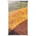 พื้นคอนกรีต พิมพ์ลายหินสลับ สีน้ำตาลสลับเหลือง พิษณุโลก - แพทเทิร์นคอนกรีต ดีไซน์ (คอนกรีตพิมพ์ลาย) พิษณุโลก