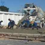 Pour the concrete floor, Pathum Thani - Wanchai Ruamchang 2518 Co., Ltd.