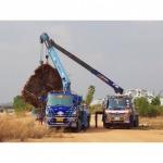 รับขุดล้อมต้นไม้ - รถเครนรับจ้าง ขนส่งต้นไม้ เอ แอนด์ เอ เครน