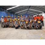 งานปรับปรุงอาคาร โรงงาน ด้วยวัสดุป้องกันการกัดกร่อนจากน้ำทะเล - บารมี คัลเลอร์ เฟล็กซ์ (Barame Color Flake)