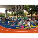 งานพื้นสนามกีฬา Play Ground EPDM สนามเด็กเล่น - บารมี คัลเลอร์ เฟล็กซ์ (Barame Color Flake)