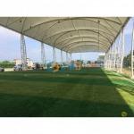พื้นสนามฟุตซอล สนามฟุตบอล ปูหญ้าเทียม - บารมี คัลเลอร์ เฟล็กซ์ (Barame Color Flake)