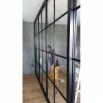 Install aluminum glass partition room - Srinakarin Glass Aluminium