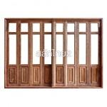 ประตูบานเฟี้ยม - สลักไทย 2