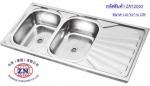 ซิงค์อ่างล้างจาน 2 หลุม มีที่พักจาน - บริษัท จงฉี (ประเทศไทย) จำกัด