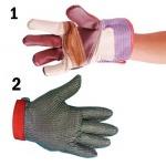 1. ถุงมือหนังแบบต่างๆ         2. ถุงมือสแตนเลสป้องกันการบาด - เอส วี ซี อิมพีเรียล