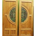 ประตูไม้สักกระจกนิรภัย - โรงไม้ ง้วนเฮงล้ง