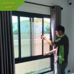 ติดตั้งกระจกอลูมิเนียม - มุ้งลวดราคาถูก นนทบุรี ศักดิ์การช่าง