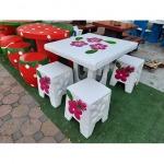โต๊ะสนามลายดอกลีลาวดี - ร้านสวนโต๊ะหินอ่อน นนทบุรี