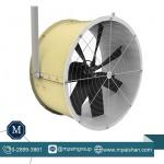 พัดลมถังกลม โครงไฟเบอร์ หูแขวน - พัดลมระบายอากาศโรงงาน