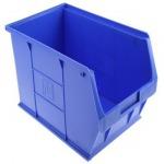 Blue Plastic Stackable Storage Bin - RS Components Co., Ltd.