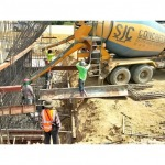 Pouring concrete - SJC Concrete Co., Ltd.