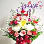 รับจัดกระเช้าดอกไม้สดราคาถูก - ร้านสุจิตรา ฟลาวเวอร์ ปากคลองตลาด