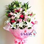 รับจัดช่อดอกไม้คาร์เนชั่น - ร้านสุจิตรา ฟลาวเวอร์ ปากคลองตลาด