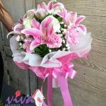 รับจัดช่อดอกไม้ลิลลี่ - ร้านสุจิตรา ฟลาวเวอร์ ปากคลองตลาด