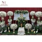 รับจัดดอกไม้ประดับหน้าหีบศพ - ชุติกาญจน์ ฟลอรีส