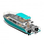 เรือทุ่นอลูมิเนียมแคททามาราน รุ่น Double Bullet - อู่ต่อเรือ ตองหนึ่ง ภูเก็ต โดย ภูเก็ตวอเตอร์ซัพพลาย