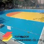 ทำพื้นสนามบาสเก็ตบอล - ท็อปฟลอร์ เอ็นจิเนียริ่ง รับทำพื้นโรงงาน รับทำพื้นขัดเงาคอนกรีต