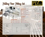 Folding Door fitting set - J Industry Co Ltd