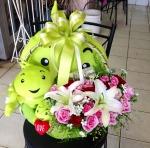 กระเช้าดอกไม้ พิษณุโลก - ร้าน ลิลลี่ ฟลาวเวอร์