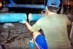 การตัดต่อท่ออุดตันใต้พื้นอาคาร - สูบส้วมสมุทรปราการ สุมาตรบริการ