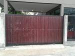 ประตูรั้วสแตนเลสผสมไม้ - Pradit Karnchang