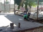 งานปูพื้นแผ่นคอนกรีต - สวนอติเทพ