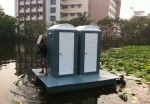 สุขาลอยน้ำ - Safe Mobile Toilet Jit Fiber Tech