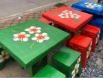 ชุดโต๊ะหินอ่อนสี่เหลี่ยม - ร้านสวนโต๊ะหินอ่อน นนทบุรี