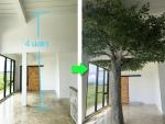 ต้นไม้ปลอมสูง 4 เมตร ล้อมเสา - Design and Install Artificial Tree for Garden and Event - Thanaphon Artificial Tree